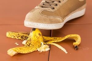 Banane rutschen vermeiden