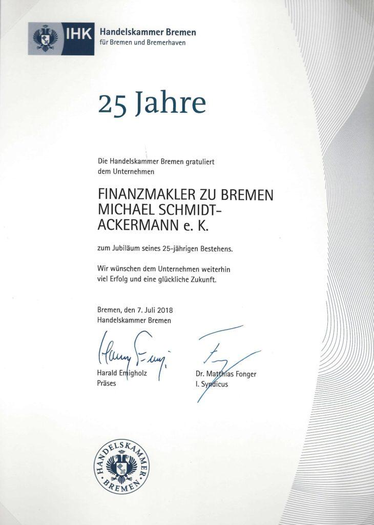 Firmenjubiläum 25Jahre